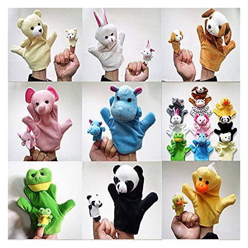 Marioneta 5 UNIDS BEBÉ NIÑOS NIÑOS Muñeca Mano Mano Puprafets Panda Perro Oso Conejo Cat Lindo Animal Familia Muñeca Muñeca Hermosa Animal Puppets (Color : Random)