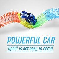 Symiu Pista Macchinine Giocattolo Pista Cars Luminosa Veicoli con Flessibile 240 Pezzi e 2 LED Cars per Bambini 3 #5
