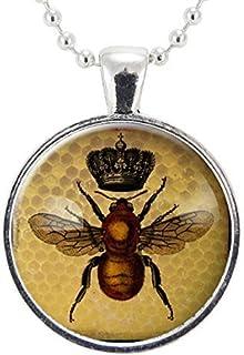Honey Bee Schmuck Kristall Honigbiene Anhänger Halskette Geschenk Collier