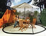Unique Imports Umbrella Mosquito Net Canopy Patio Table Set Screen House - Large Premium Netting
