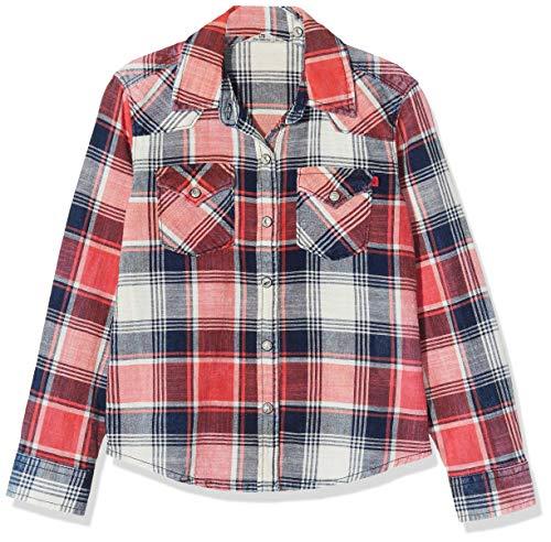 LTB Jeans Mädchen Lucinda G Bluse, Mehrfarbig (Coral Check Wash 52229), 140 (Herstellergröße: 10)