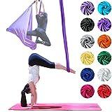 Hamaca de Yoga aérea profesional Firetoys®, fabricada en el Reino Unido, probada y certificada para la seguridad: ¡muchos colores! (Plata)