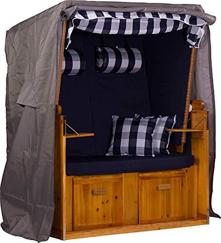 Webavita Strandkorb Schutzhülle Segeltuch 600d Oxford Gewebe anthrazit 120x155x90cm BxHxT