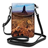Jiger Women Small Cell Phone Purse Crossbody,Monument Valley Arizona Three Buttes East West Merrick National Parks Photograph