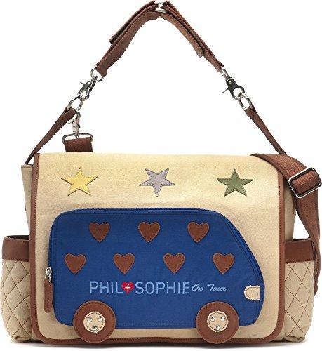 PHIL+SOPHIE, Cntmp, Damen Handtaschen, Wickeltaschen, Diaper Bags, Babytaschen, Buggy-Taschen, 44 x 30,5 x 9 cm (B x H x T), Farbe:Beige
