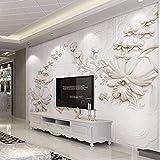 Abihua Mural De Pared Papel Pintado Personalizado Para Paredes 3 D Color Sólido Alivio Estereoscópico Abstracto Papel De Pared De Flores Decoración Para El Hogar