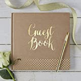 Ginger Ray Wedding Guestbook 32 Pagine, Marrone