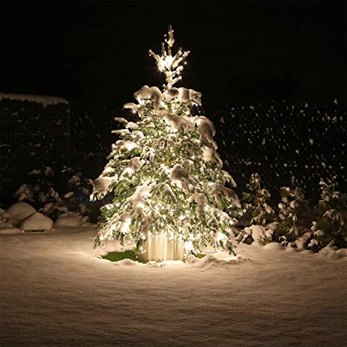 CLGarden große Premium LED Lichterkette 60 Meter 600 LEDs warm Weiss außen innen