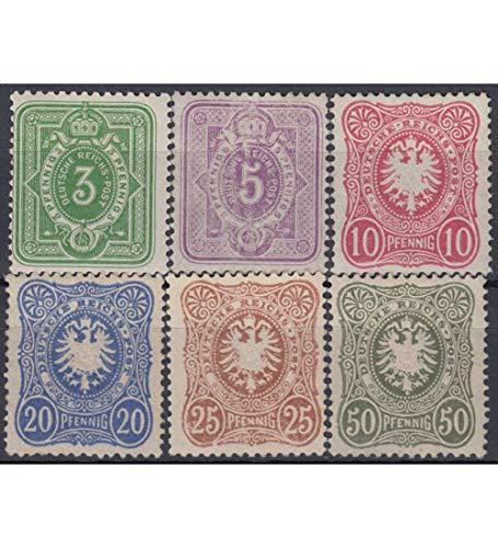 Goldhahn Deutsches Reich Nr. 39-44
