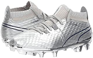 (プーマ) PUMA キッズサッカーシューズ?靴 ONE Chrome FG (Little Kid/Big Kid) Silver/Blue Depths 5.5 Big Kid 24cm M [並行輸入品]