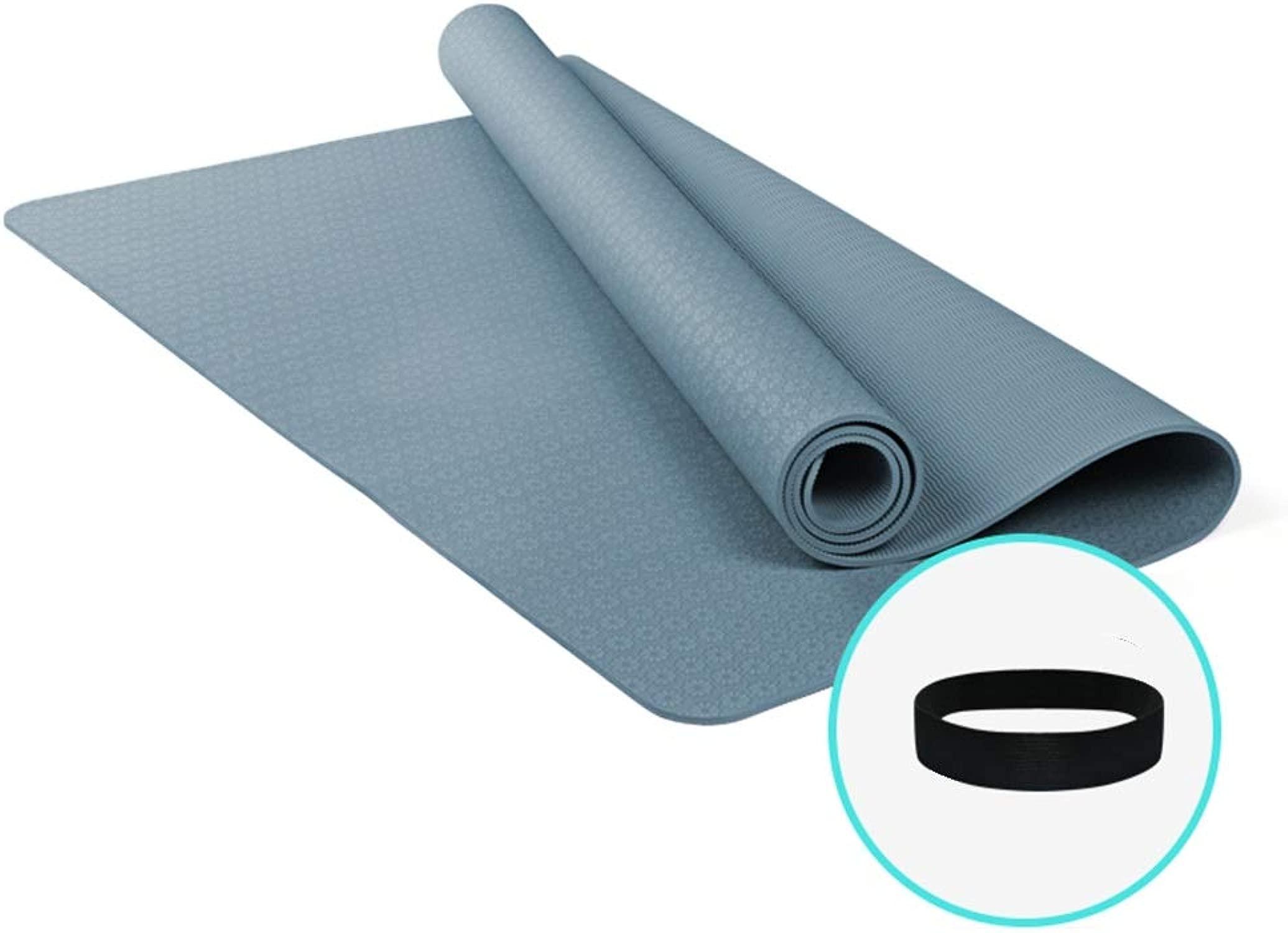 TYCXYD Fitness-Matte Yoga-Matte Superdick Anti-Rutsch-Bügel-Bügel 185x122cm Yoga Matte (Farbe   G ish Blau)
