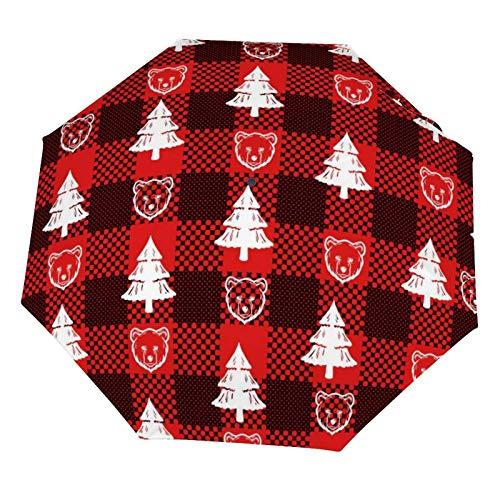 Paraguas de lluvia manual, plegable, resistente al sol, árbol de Navidad y...