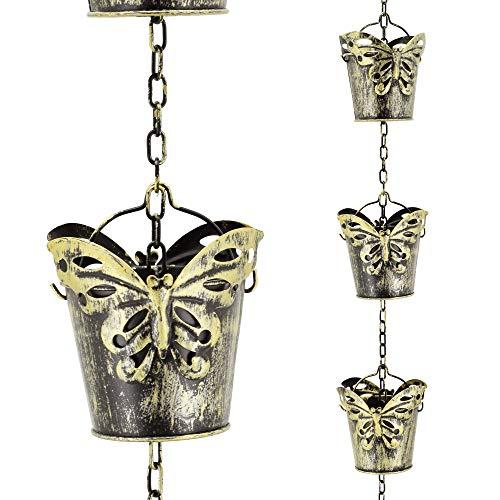 Arcadia Garden Products RC02 Schmetterling Eimer Regenkette Antik Gelb