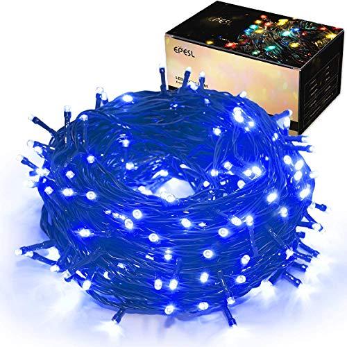 Luci natalizie per interni ed esterni 35m 320 LEDs con 8 modalità di memoria un capo all'altro estensibile Stringa Luci Decorazione per Giorno di Natale alberi giardino domestici Festa di nozze - blu