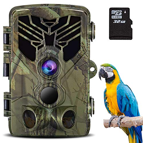 【2020 Bluetooth Upgrade】 Trail Camera, WiFi 20MP 4K Bluetooth Hunting Game Camera with Night Vision Motion Activated, 3 Infrared Sensors, 940nm IR LEDs for Outdoor Wildlife Monitoring Waterproof IP66