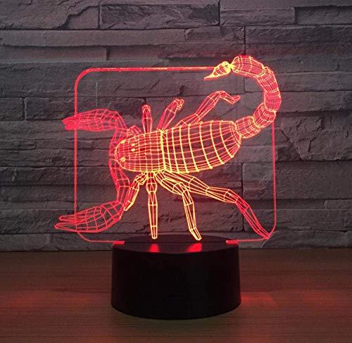 3D LED nachtlampje 7 kleuren decoratie voor uw huis sfeer, LED USB LED lamp speciale hologram voor bijzondere decoraties