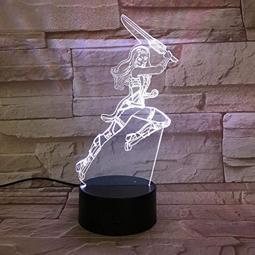 Action Character 3D Led Lumière Décoration Cadeau Enfants Vacances Usb 7 Changement De Couleur Lampe De Lave Enfants Hobby Cadeau Bébé, Enfants, Anniversaire Lampe De Bureau, Cadeaux Maison