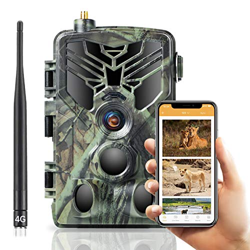 SUNTEKCAM 4G Wildkamera Fotofalle 20MP 1080P HD Jagdkamera Nachtsicht Bewegungsmelder IP66 Wasserdichter& Staubdicht Nachtsichtkamera mit HandyüBertragung MMS SMTP FTP Überwachungskamera