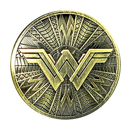 DC Wonder Woman Brass Shield Pewter Lapel Pin Novelty Accessory,Multi-colored,1'