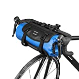 Lixa-da Bicicleta Bolso Impermeable Ciclismo Mountain Road MTB Bicicleta Delantero Marco Manillar Maleta Seca con Cierre (Azul)
