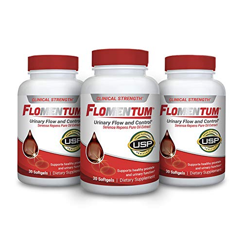 Flomentum® USP Verified Saw Palmetto Prostate Supplement for Men - Supports Healthy Urinary Function - Clinical Strength Extract- (90 Count)