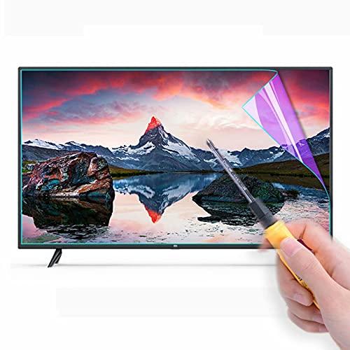Película protectora de pantalla de TV con filtro de luz azul - Protector de pantalla antideslumbrante, filtro de pantalla de bloqueo de luz azul Protección ocular para monitores de 32-75'