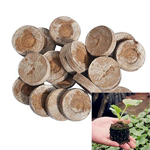 Jiffy Pastilles de plantation Granulés de graines de compost Plug Start semis, l'intérieur facile au Greffe au jardin (50ct – 25 mm)