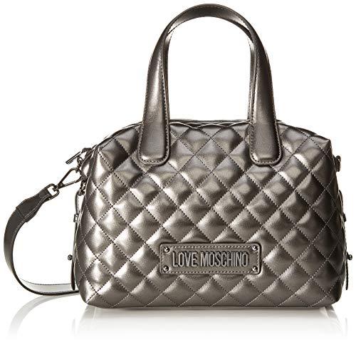 Love Moschino Unisex-Erwachsene Jc4005pp18la0906 Bowling-Tasche, Grau (Fucile), 19x12x28 centimeters
