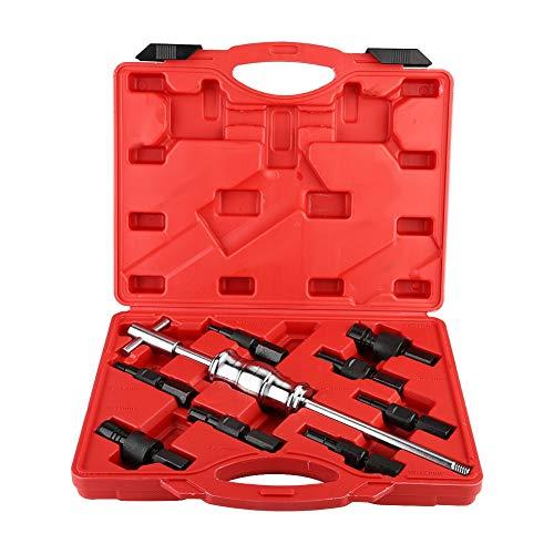 Akozon Estrattore per cuscinetti interni Kit di estrazione per estrattori cuscinetti per fori ciechi 9 pezzi Kit interno martello scorrevole