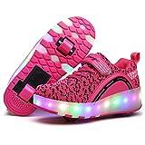 ❤❤❤ Unisex Led Luz Automática de Skate Zapatillas con Ruedas Zapatos Patines Deportes Zapatos para Niños Niñas ❤❤❤