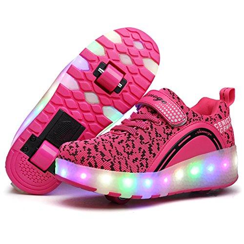 Viken Azer-UK Laufschuhe Sportschuhe Kinder Skateboard Schuhe Kinderschuhe mit Rollen LED Skate Schuhe Trainer Sneakers Rollen Schuhe für Junge Mädchen