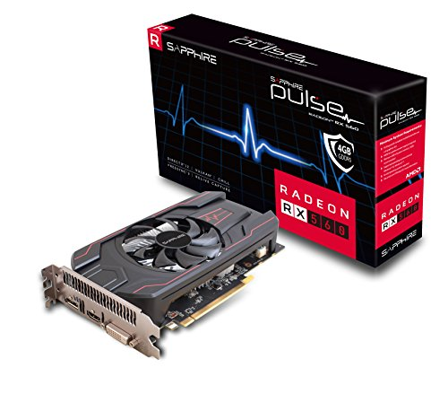 Sapphire 11267-18-20G Radeon Pulse RX 560 4GB GDDR5 HDMI/DVI-D/DP OC (UEFI) PCI-E...