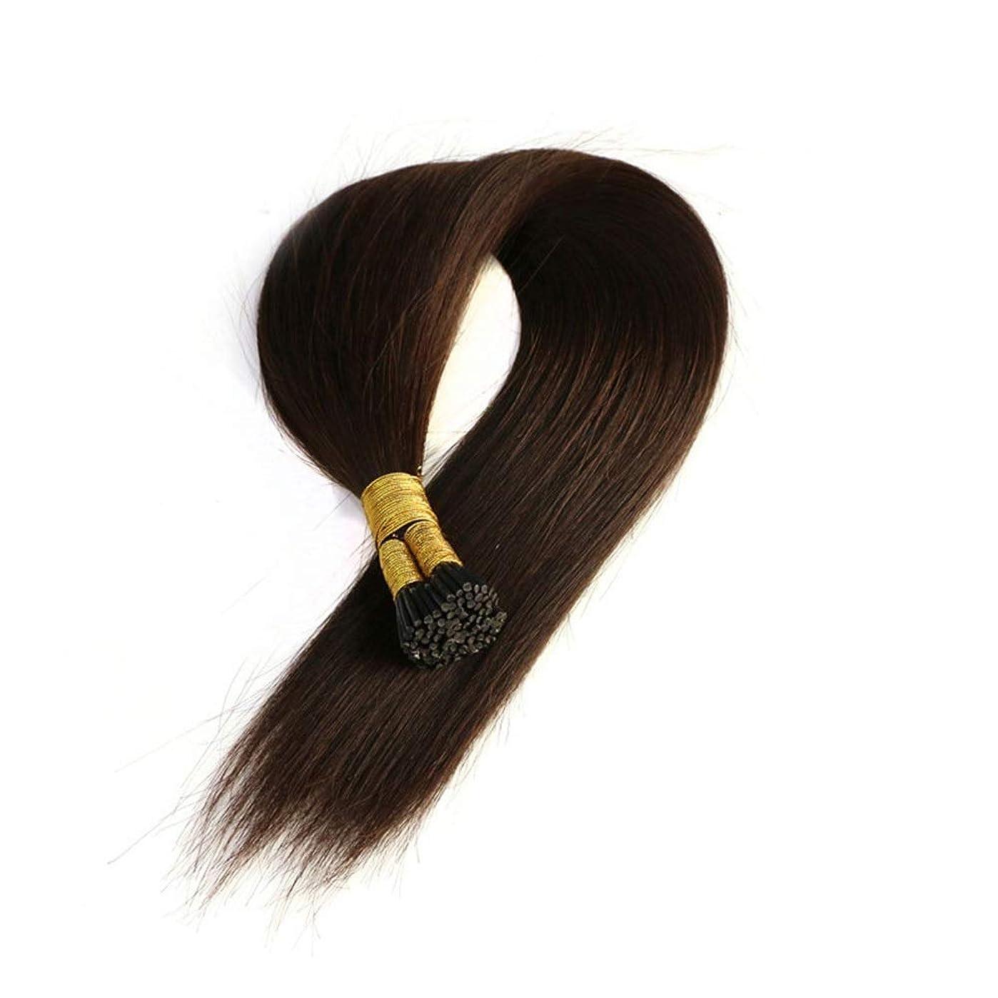 土器断線ストロークJULYTER ナノリングヘアエクステンション人間の髪の毛イージーラングループマイクロビーズ髪の毛50グラムあたりパッケージ総計 (色 : 黒, サイズ : 40cm)