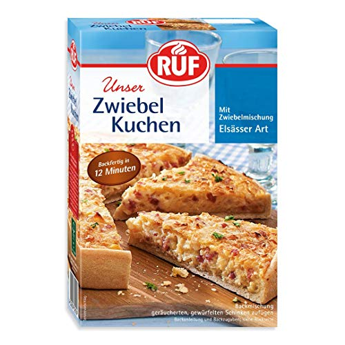 RUF Elsässer Zwiebel-Kuchen Backmischung und Zwiebelmischung, 7er Pack (7 x 300 g Packung)