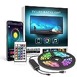 Mexllex Led Striscia 2m, Retroilluminazione LED per TV, 5050 Striscia LED RGB USB con App Control, Adatto per HDTV da 40-60 Pollici, PC Monitor [Classe di efficienza energetica A]