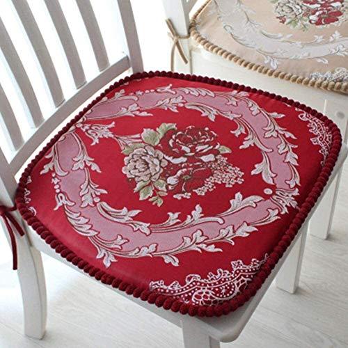 BESTPRVA Silla continentales de ratón for sillas de Comedor, Espesa el cojín de la Silla, Lavable del resbalón del cojín del Asiento, no futón Pad Chair, for la Seguridad del Coche F 45x43cm