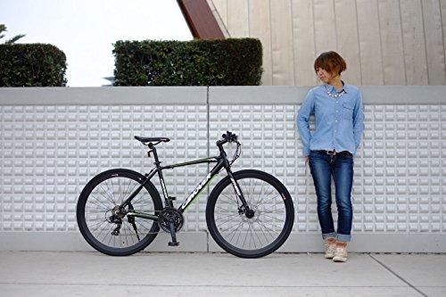 CANOVER(カノーバー)クロスバイク700Cシマノ21段変速CAC-027-DC(ATENA)フロントディスクブレーキアルミフレームフロントLEDライト付ホワイト