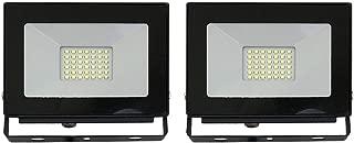 LLT 30W LED Flood Light on yoke/2pack Super Slim SMD Indoor Landscape Security Waterproof 5000K (Daylight) Black