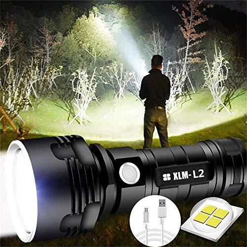 30000-100000 LúMenes LáMpara De Luz De Flash Led Impermeable De Alta Potencia Ultra Brillante, Reflector De Mano Impermeable, Linterna Recargable TamañO De Bolsillo Ultra Brillante (25W XLM-L2)