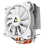 Antec CPU Cooler, 120mm Fans, PWM Fans, for Intel LGA 775/1150/1151/1155/1156/1366/2011/2066, AMD FM2/ FM1/AM3+/AM3/AM2+/AM2/AM4, C400 Glacial