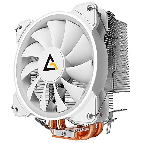 Antec CPU Cooler, ventiladores de 120 mm, ventiladores PWM, para Intel LGA 775/1150/1151/1155/1156/1366/2011/2066, AMD FM2/FM1/AM3+/AM3/AM2+/AM2/AM4, C400 Glacial