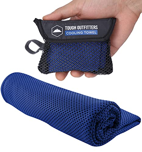 Cooling Towels - Sweat Rag & Towel for Gym, Workout, Running, Golf, Yoga - Head & Neck Cooling Wraps for Hot Weather - Neck Cooler for Quick Cool Down - Skin Cancer Foundation Recommended - Royal Blue