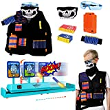 OBES Electronic Digital Targets for Shooting Pactice,Tactical Vest Kit for Nerf Guns N-Strike Elite Series for Boys Toys Age 6-12