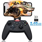 Mobile Matte Game Controller, Tonitrus Wireless Bluetooth Gamepad Joystick Game Controller for TPS Compatible VR iOS Android Mobile Phone PC Android TV Box and Pad (Black)