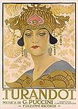 Poster, Vintage-Stil, Oper und klassische Musik, Turandot