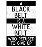 Damdekoli Black Belt is a White Belt Jiu Jitsu, Taekwondo,