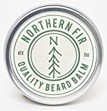 Northern Fir Beard Balm  - All Natural Leave In Conditioner with Vitamin E & Essential Oils For Coarse & Rogue Hair - Promotes Healthy Beard Growth for Men – 2 oz