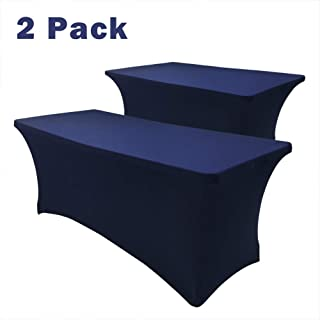 Hipinger 2 Pack Stretch Spandex Table Cover for 8 Ft Rectangle Tables, 96