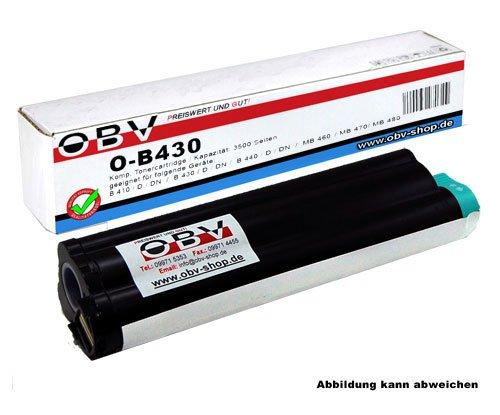 OBV B430 kompatibler Toner ersetzt Oki 43979202, Kapazität 7000 Seiten, schwarz