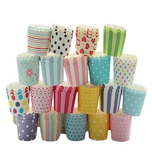 Billty Bunte Papier Cupcake Muffin Cupcake Formen Hochzeit Party Dekoration Zufällige Farbe 50 Stück